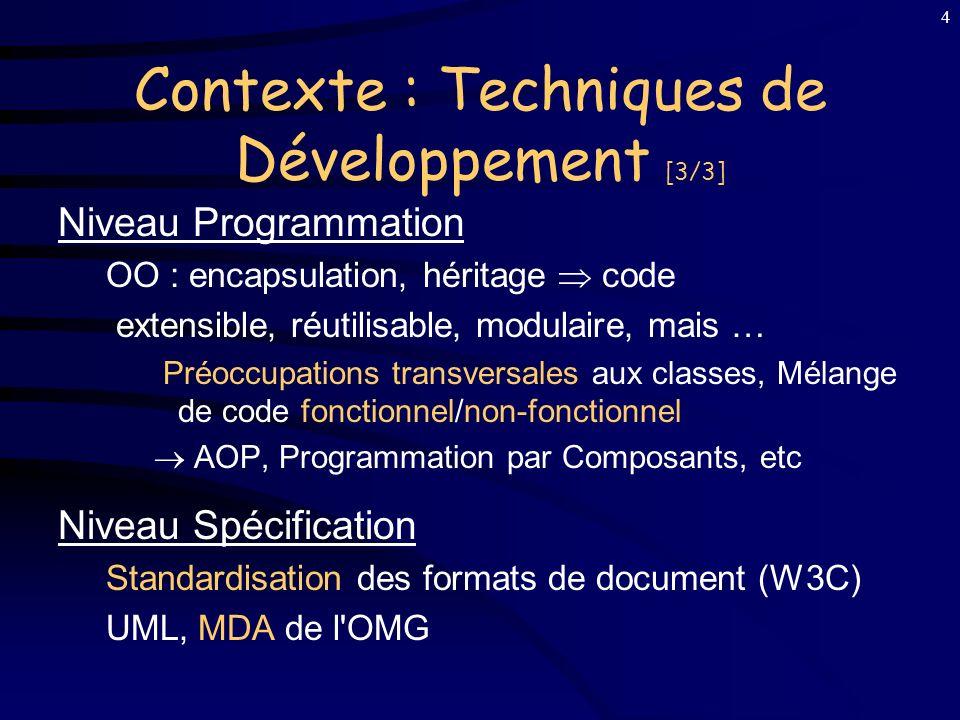 Contexte : Techniques de Développement [3/3]
